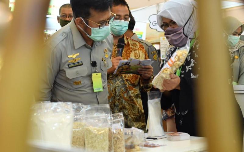Menteri Pertanian Syahrul Yasin Limpo. Ada tiga konsep yang menjadi fokus pemerintah dalam memperkuat pangan lokal yaitu mulai dari budidaya, pengolahan hingga aspek pemasaran.  - KEMENTAN