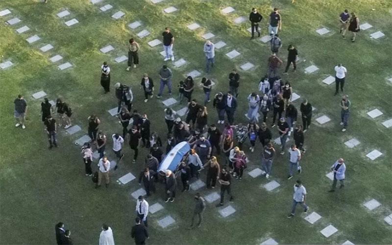 Jenazah Diego Maradona dimakamkan di Bella Vista, Buenos Aires, Argentina./Antara - AFP