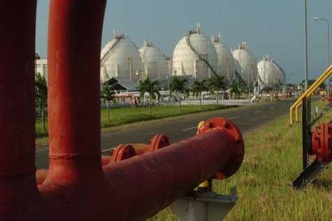 ilustrasi kilang gas