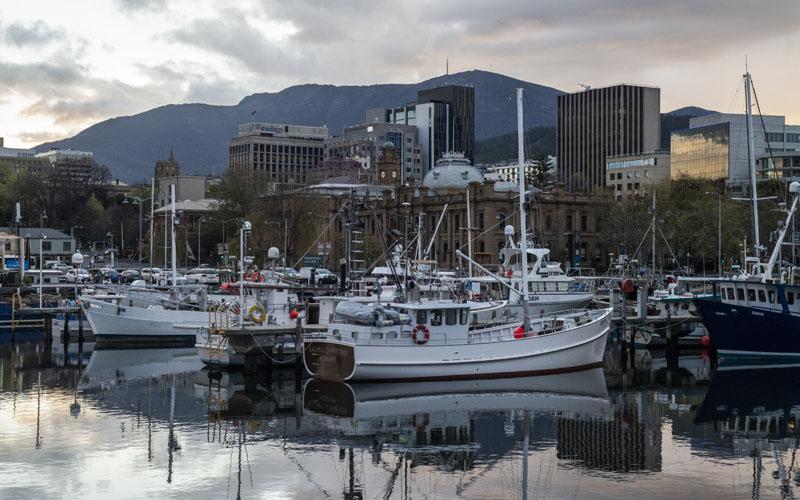 Pemandangan Kota Hobart, Tasmania, Australia./Bloomberg - Chris Crerar