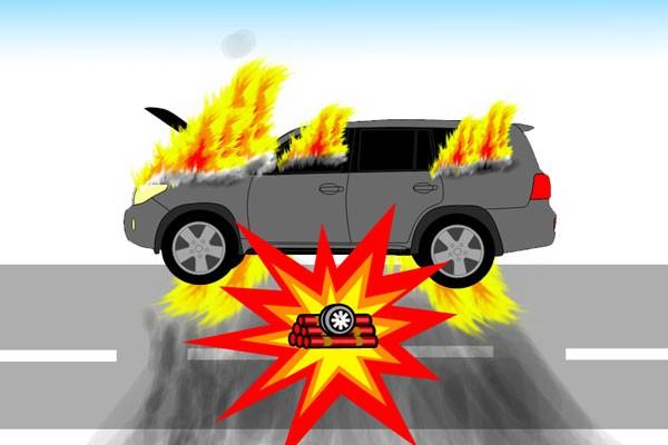 Ilustrasi - Bom mobil. - Antara