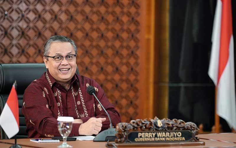 Gubernur Bank Indonesia Perry Warjiyo memberikan keterangan melalui streaming di Jakarta, Rabu (18/8 - 2020), Dok. Bank Indonesia