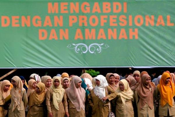 Ilustrasi Pegawai Negeri Sipil Indonesia  - antara