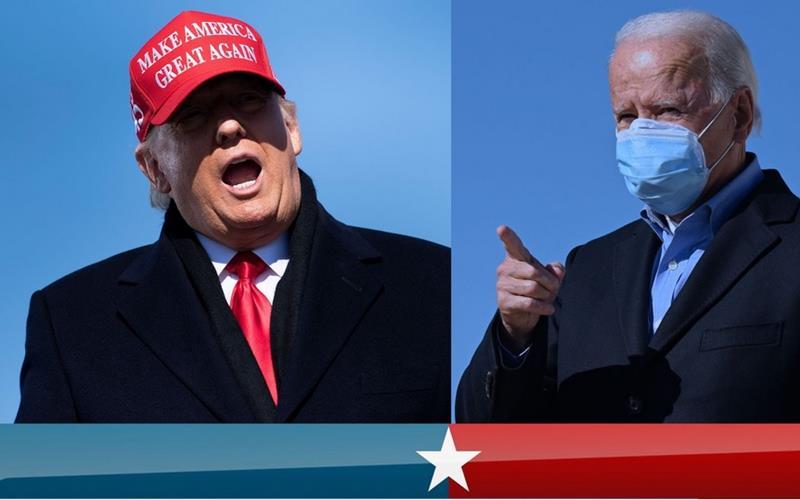 Calon Presiden AS Donald Trump (kiri) dan Joe Biden (kanan). - Istimewa