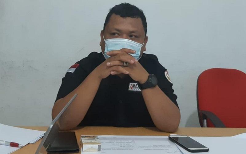 Anggota Bawaslu Medan Divisi Hukum, Humas, dan Data Informasi M. Taufiqurrohman Munthe saat memaparkan data pengawasan Pemilu Wali Kota Medan, Selasa (1/12/2020).  - Bisnis/Cristine Evifania Manik