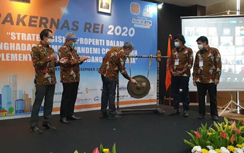 Pembukaan Rakernas REI 2020 pada Kamis (3/12/2020), - REI