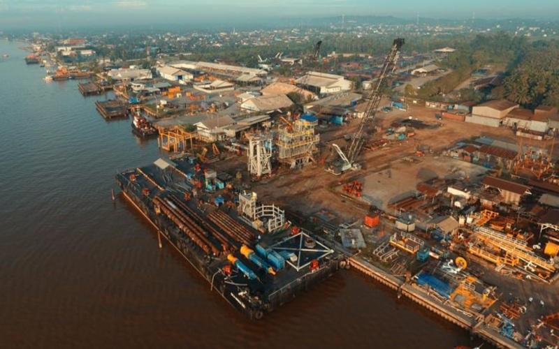 Ilustrasi: Setelah selesai tahap pabrikasi yang dilakukan oleh kontraktor EPCI PT Meindo Elang Indah di Handil-1 Fabrication Yard, pada 15 Juli 2020 Anjungan KLD diberangkatkan menuju lepas Pantai Utara, Jawa Barat. Istimewa - SKK Migas
