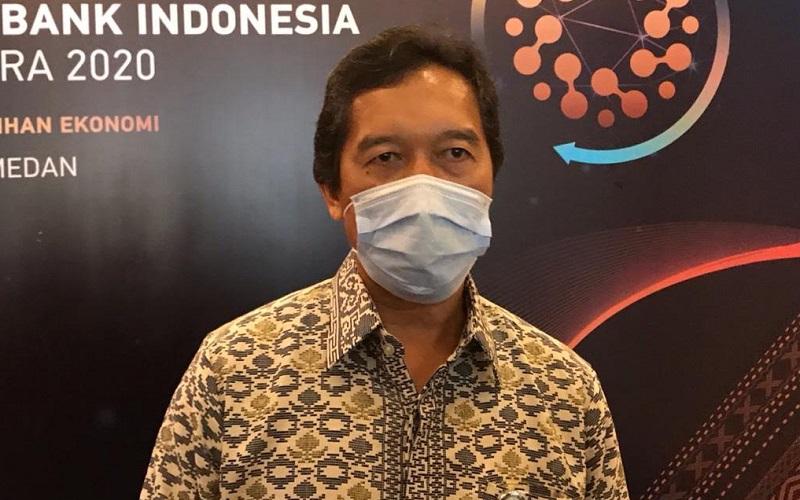 Kepala Perwakilan Bank Indonesia Sumatra Utara Wiwiek Sisto Widayat saat diwawancarai di Pertemuan Tahunan Bank Indonesia Sumut, Kamis (3/11/2020). - Bisnis/Cristine Evifania Manik