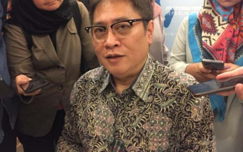 Direktur Jenderal Perundingan Perdagangan Internasional (PPI) Kementerian Perdagangan Iman Pambagyo. (ANTARA - Mentari Dwi Gayati)