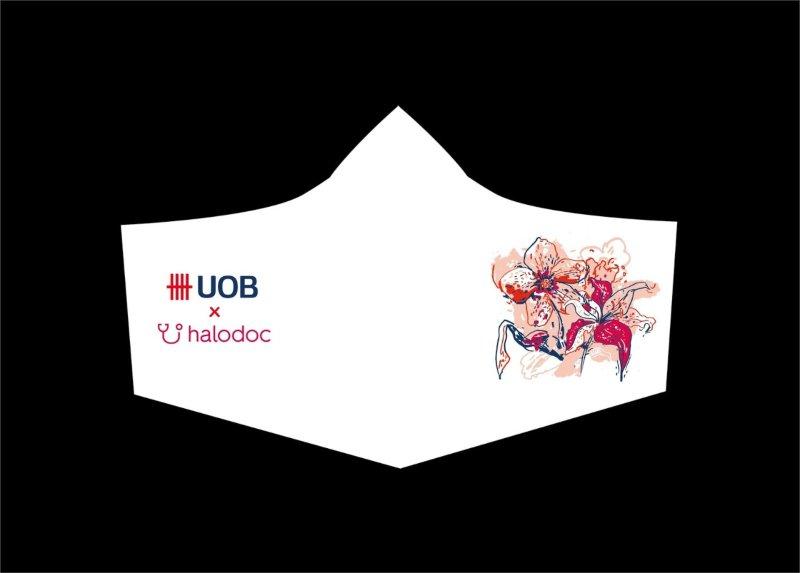 UOB menggandeng seniman untuk mendesain masker. - ilustrasi
