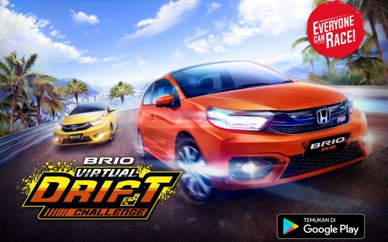 Gim Brio Virtual Drift Challenge ini menyediakan dua tipe mobil yakni Brio Satya dan Brio RS dengan total 16 trek.  - Honda
