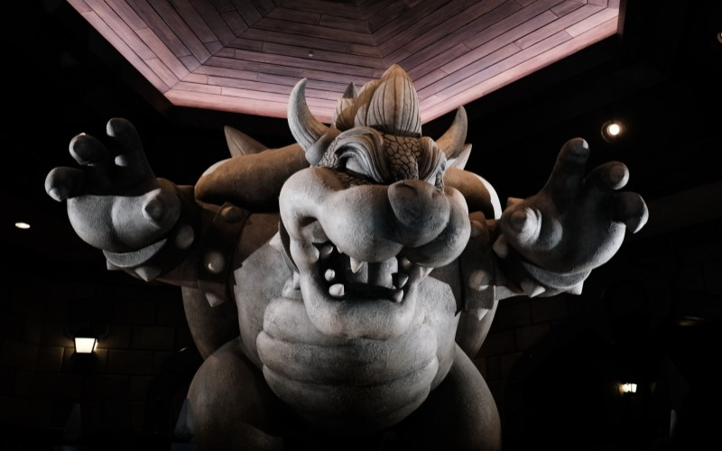 Bowser Castle di Super Nintendo World, Universal Studio. / Bloomberg