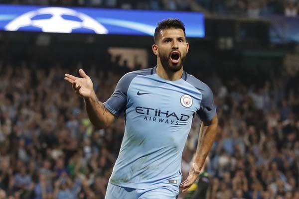 Ujung tombak Manchester City Sergio Aguero/Reuters - Carl Recine