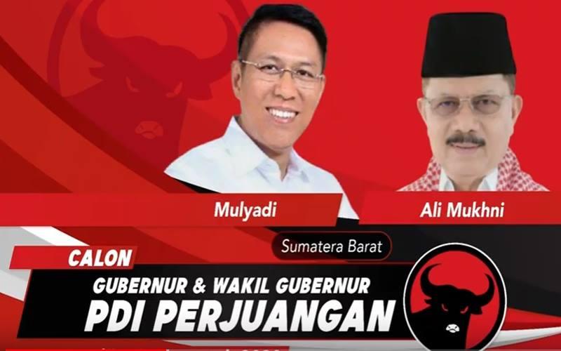 PDIP mengusung pasangan calon  Ir. Mulyadi dan Drs. H. Ali Mukhni untuk Pilkada Provinsi Sumatra Barat 2020. JIBI - Bisnis/Nancy Junita