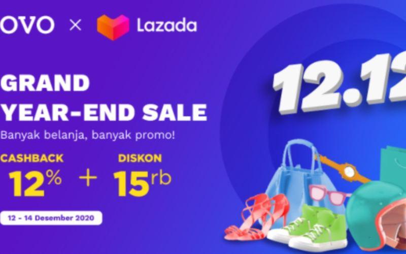 OVO dan Lazada menawarkan ribuan promo 12.12 setiap hari selama periode 12-14 Desember 2020. - istimewa