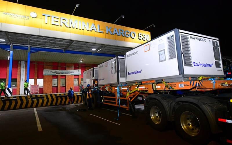 Vaksin Covid-19 buatan Sinovac yang tiba di Bandara Internasional Soekarno-Hatta pada Minggu malam, 6 Desember 2020. - Istimewa