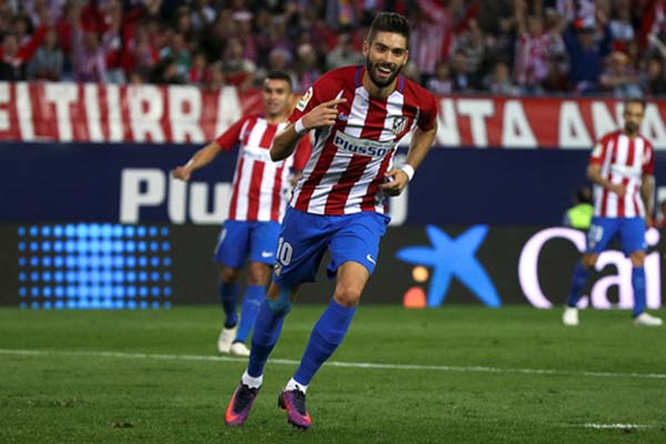 Penyerang Atletico Madrid Yannick Carrasco/Reuters - Sergio Perez