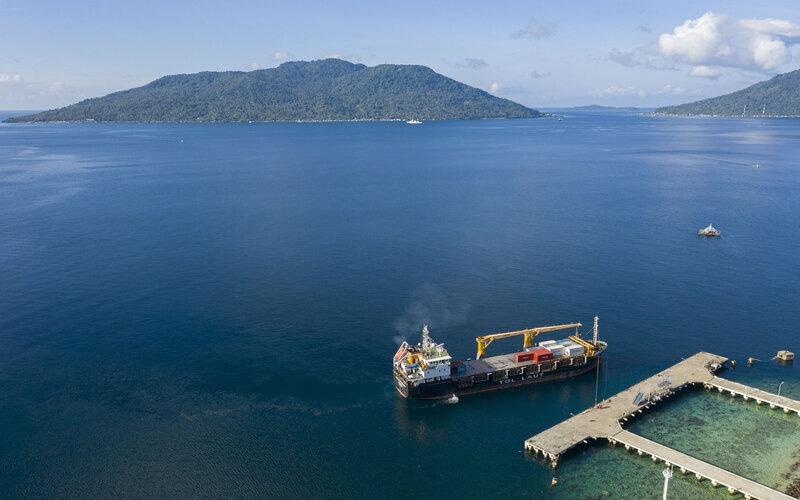 Kapal Logistik Nusantara. - Antara/Aditya Pradana Putra.