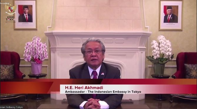 Duta Besar Indonesia untuk Jepang Heri Akhmadi dalam pertemuan virtual - dok. APHI