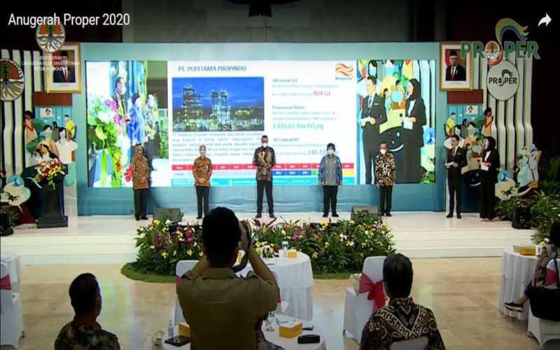 Acara Anugerah Proper 2020 di Kementerian Lingkungan Hidup dan Kehutanan. - Istimewa