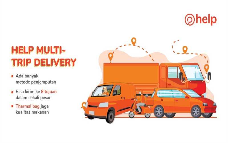 Aplikasi Help Perkenalkan Layanan Multi-Trip Delivery. - Istimewa