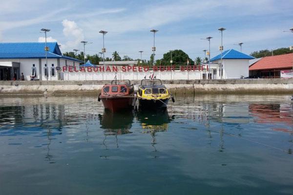 Pelabuhan speedboat. - Antara