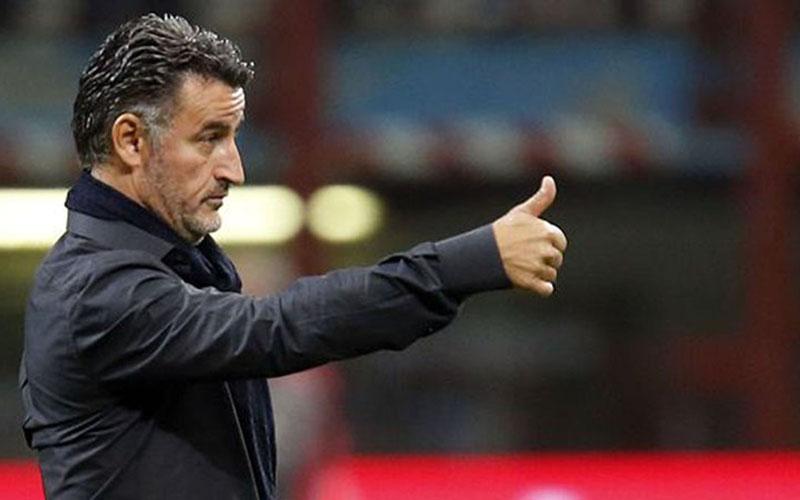 Pelatih Lille Christope Galtier, anak asjuhnya tengah memimpin klasemen sementara Ligue 1 Prancis. - Reuters