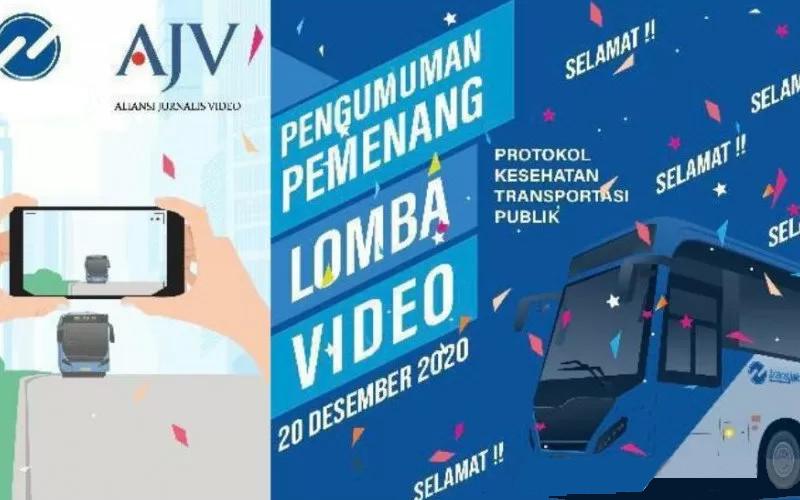 Flayer pengumuman lomba Video Aliansi Jurnalis Video (AJV) dan TransJakarta (Tije).  - ANTARA