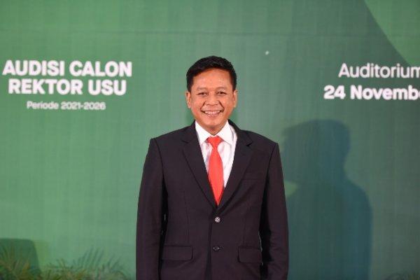Guru Besar Universitas Sumatra Utara (USU) sekaligus Rektor Terpilih USU Muryanto Amin diduga melakukan plagiarisme karya ilmiah. - usu