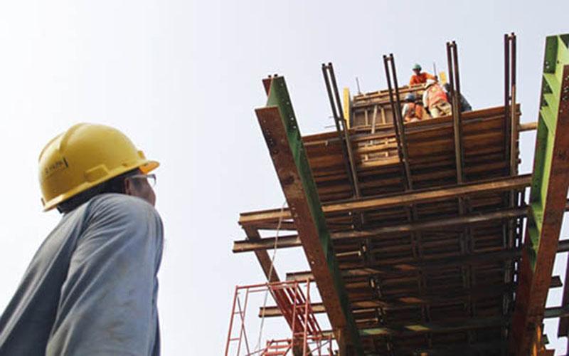 Ilustrasi kegiatan konstruksi. - Reuters