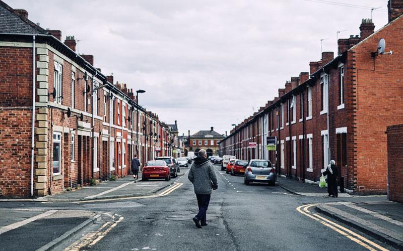 Perumahan di Wallsend, Inggris./Bloomberg - Matthew Lloyd