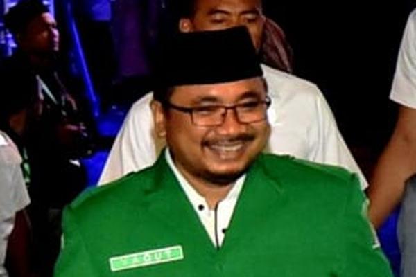 Ketua Umum GP Ansor Yaqut Cholil Qoumas.  - GPANSOR