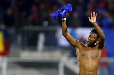 Pemain belakang Bayern Munchen David Alaba/Reuters - Dominic Ebenbichler