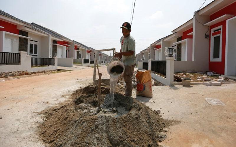 Ilustrasi pembangunan perumahan./Reuters - Willy Kurniawan