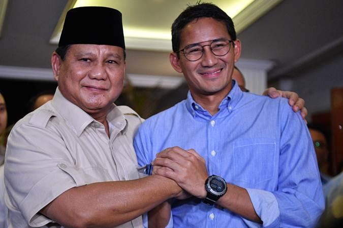 Sandiaga Uno dan Prabowo