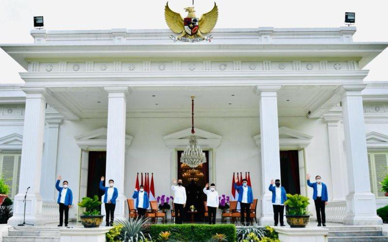 Presiden Jokowi mengumumkan reshuffle kabinet Indonesia Maju 2020. / Biro Kepresidenan RI