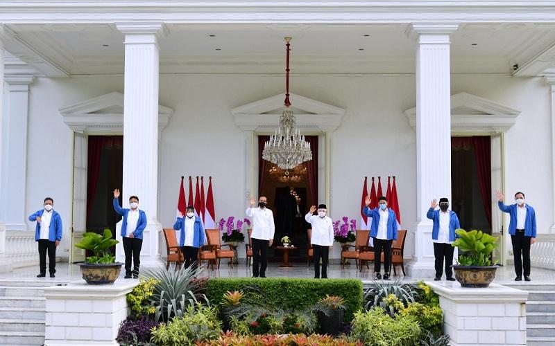 Presiden Joko Widodo memperkenalkan enam menteri baru di Kabinet Indonesia Maju  -  Dok: Setpres RI