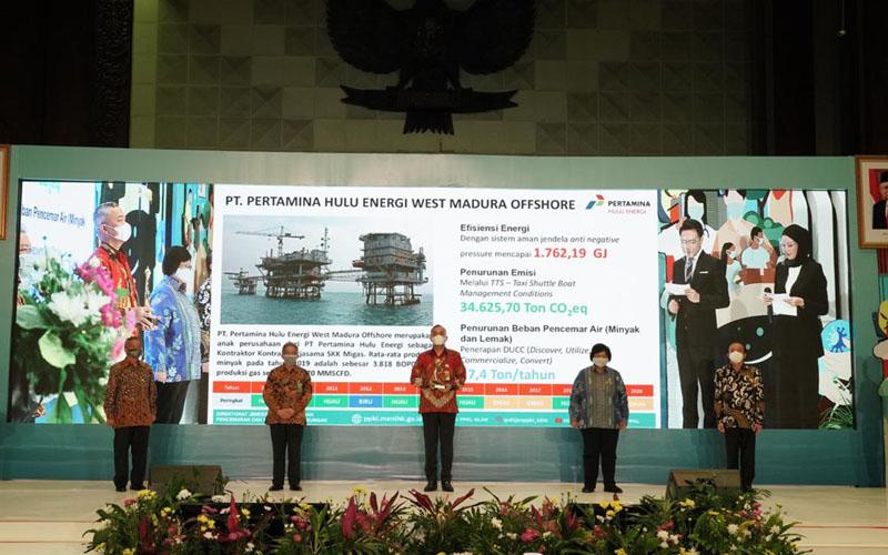 PT Pertamina Hulu Energi West Madura Offshore meraih proper emas dari Kementerian Lingkungan Hidup dan Kehutanan (KLHK), yang diberikan pada Senin (14/12/2020).  -  Dok. Istimewa