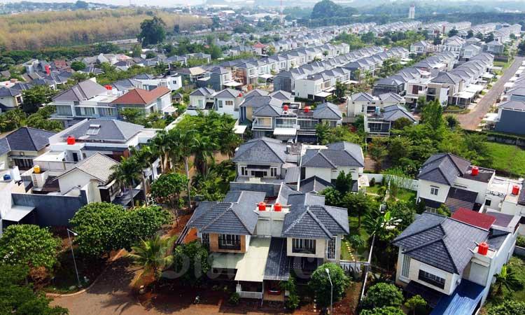 Ilustrasi proyek properti perumahan./Bisnis - Triawanda Tirta Aditya