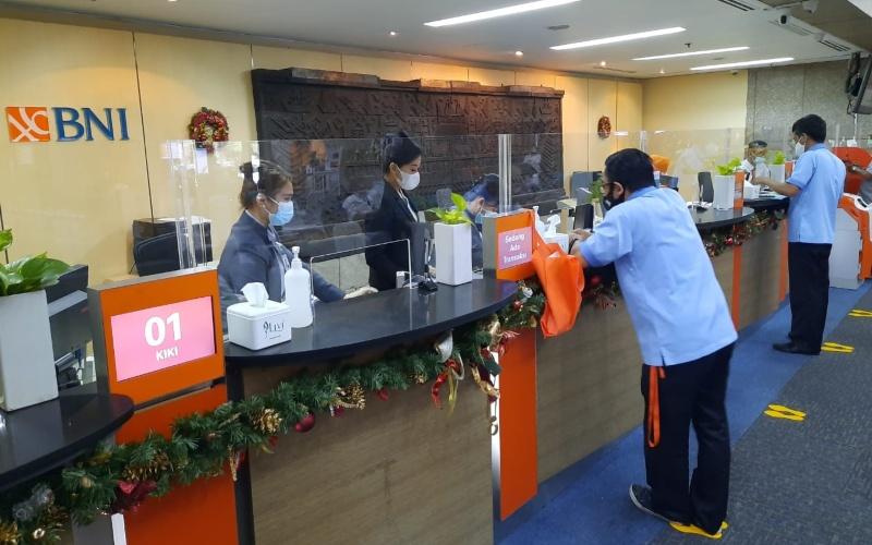Aktivitas di salah satu kantor cabang BNI - Dokumen BNI