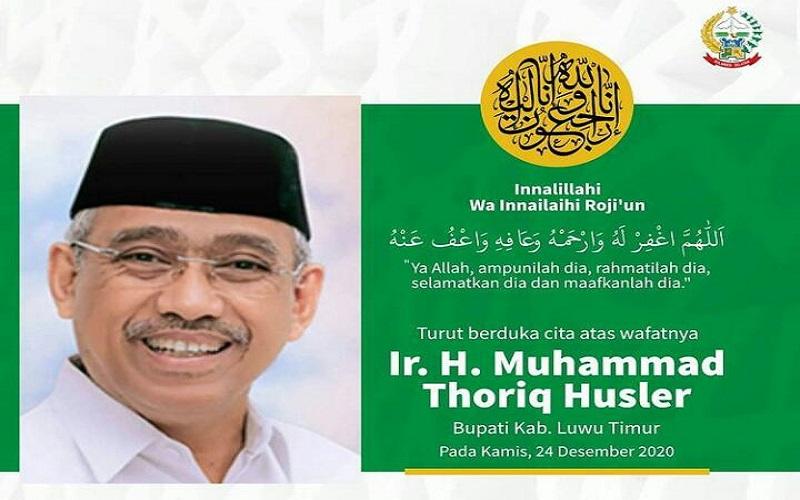 Ucapan duka meninggalnya Bupati Luwu timur Thoriq Husler - Instagram @andisudirman.sulaiman