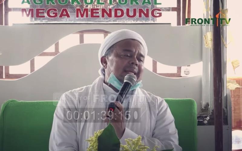 Pimpinan Frotn Pembela Islam dan sekaligus pendiri Pondok Pesantren Alam Agrokultural Markaz Syariah tengah membicarakan adanya BUMN yang mengirimkan somasi terkait lahan yang dimiliki ponpes tersebut - Youtube/Front TV