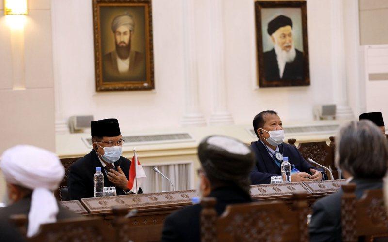 Wapres ke-10 dan ke-12 RI Jusuf Kalla bertemu ulama-ulama membahas rencana perwujudan perdamaian di Afghanistan, Rabu (23/12 - 2020) / Tim Media JK
