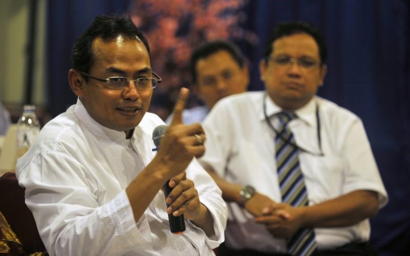 Sekretaris Perusahaan PT Bank Negara Indonesia (persero) Tbk. (BBNI) Mucharom. - Antara / Yusran Uccang