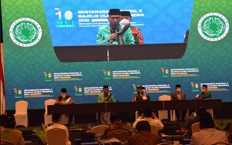 Musyawarah Nasional (Munas) X Majelis Ulama Indonesia (MUI) digelar di Jakarta menetapkan KH Miftachul Akhyar, Rais Aam Pengurus Besar Nahdlatul Ulama, sebagai Ketua Umum MUI periode 2020-2025 menggantikan Prof KH Ma'ruf Amin. - mui.or.id