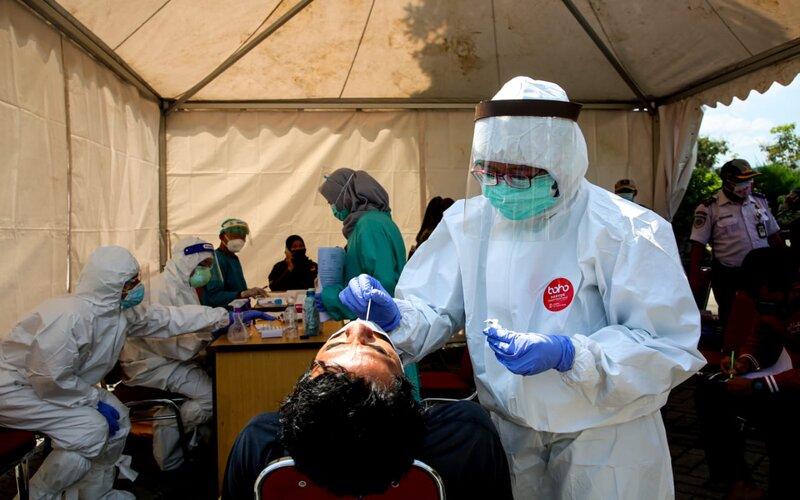 Operasi yustisi dan tes antigen di Rest Area 429 di Kabupaten Semarang, Kamis (24/12/2020). - Ist