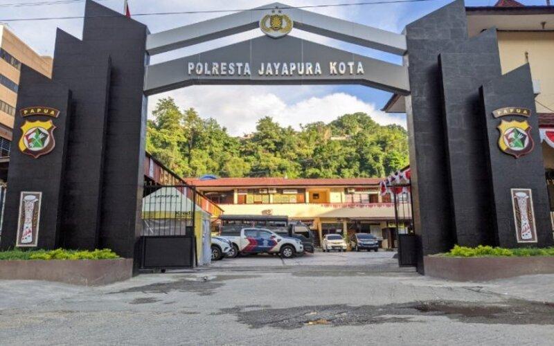 Mapolresta Jayapura Kota. - Antara/Humas Polresta Jayapura Kota