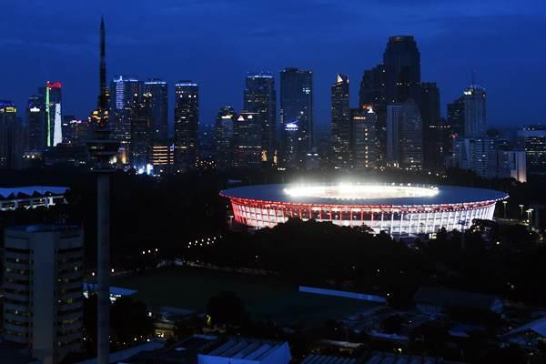 Stadion Utama Gelora Bung Karno di Jakarta, salah satu venue utama Piala Dunia U-20 2021 yang akhirnya dibatalkan. Namun, Indonesia tetap menjadi tuan rumah penyelenggaraan ajang tersebut untuk edisi 2023./Antara - Akbar Nugroho Gumay