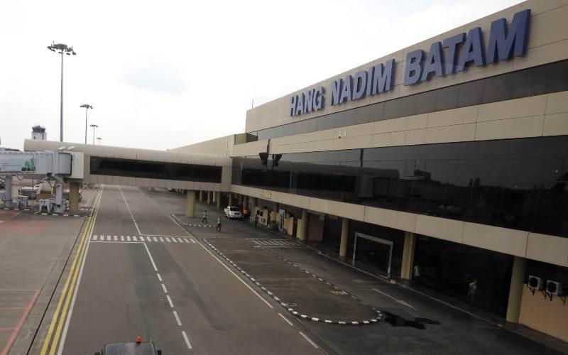 Keterangan foto: Bandara Internasionl Hang Nadim Batam-Bisnis - Bobi Bani.
