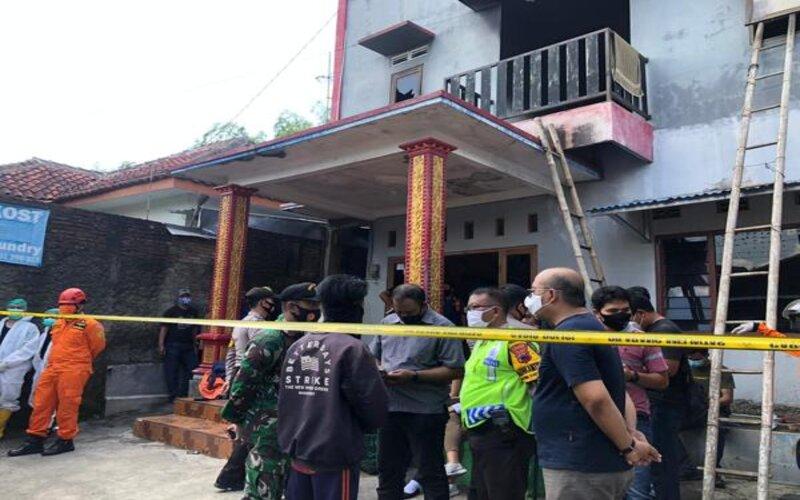 Rumah indekos di Gembongan, Kartasura, Sukoharjo, yang terbakar pada Jumat (25/12/2020) pagi. - JIBI/Ichsan Kholif Rahman